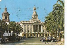 Postal 025013 : Plaza de S. Juan de Dios. Ayuntamiento. Cadiz..
