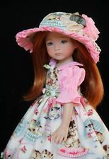 """Dotted Swiss & Kittens 2 ~ OOAK Outfit for Effner 13"""" Little Darling ~ by Gloria"""