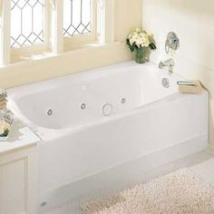 Massage Tubs - Cambridge 60 Inch by 32 Inch Americast Whirlpool - White