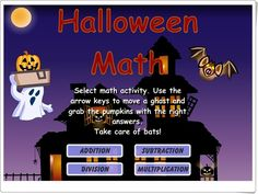 Halloween - Interactive Learning Sites for Education Educational Websites For Kids, Learning Sites, Educational Activities, Kids Websites, Smart Board Activities, Fun Math Games, Math Classroom, Classroom Activities, Classroom Ideas