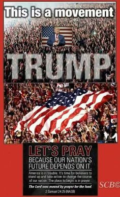 PRAY AND FAST PEOPLE-- THEN VOTE TRUMP!