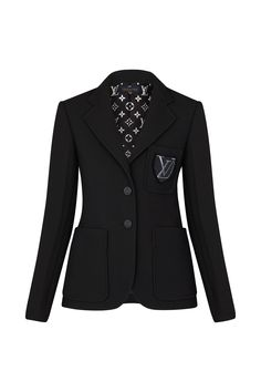 Blazer Jacket With Embroidered Patch - Ready-to-Wear Ropa Louis Vuitton, Louis Vuitton Dress, Louis Vuitton Store, Kpop Fashion Outfits, Casual Outfits, Work Outfits, Looks Chic, Jackets For Women, Clothes For Women