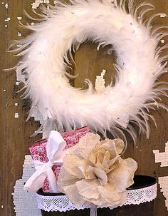 Love this feather wreath! {no instructions; inspiration only}