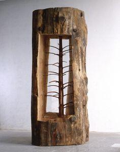 Decorando com tronco bruto