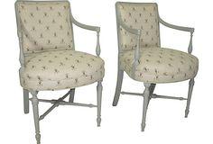 Regency-Style Painted Armchairs, Pair on OneKingsLane.com