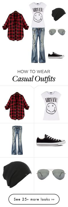 """Casual day out"" by jen-chesser on Polyvore featuring American Eagle Outfitters, Converse and Ray-Ban"