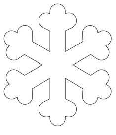 Winter Crafts For Kids Snowflake Template, Snowflake Stencil, Snowflake Cutouts, Felt Christmas Ornaments, Christmas Diy, Christmas Decorations, January Crafts, Simple Snowflake, Christmas Coloring Pages