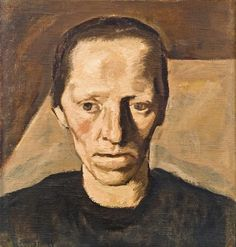"Albin Egger-Lienz (Austria: 1868-1926) - Bäuerin III (Contadina)"" von 1922"