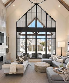 Living Room Ideas- 30 Most Important Three Rules to Know for Your Free Living Room Decor 2019 – Page – Diy Interior Design Dream Home Design, My Dream Home, Dream House Interior, Living Area, Living Room Decor, Living Rooms, High Ceiling Living Room, My New Room, Decor Interior Design