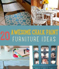 DIY Chalk Paint Furniture Ideas and Tutorials | Cool & Easy DIY Painting Tutorials By DIY Ready. http://diyready.com/20-awesome-chalk-paint-furniture-ideas/