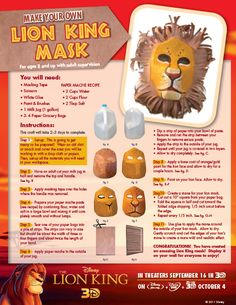 Make Your Own Lion King Mask Craft( Card holder)
