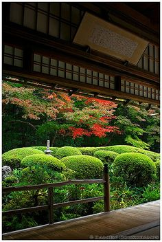 Early autumn in Shisen-do (詩仙堂), Kyoto, Japan