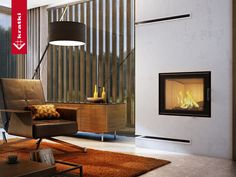 Fireplace NADIA 10 kW #kratkipl #kratki #fireplace #insert #interior #livingroom