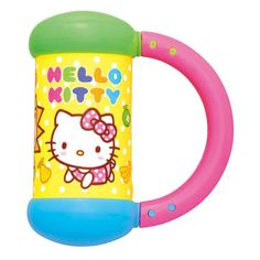The Hello Kitty Shake Barbell is a fun and engaging toy. The handle of this baby rattle is also textured for easy grasping. This toy features a colorful and can be used to entertain your little one at home or on the go Hello Kitty Baby, Baby Rattle, Baby Cats, Barbell, Shake, Toy, Japan, Entertaining, Texture