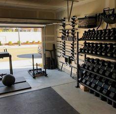 Top 75 Best Garage Gym Ideas - Home Fitness Center Designs - Home gym garage - Home Gym Garage, Home Gym Basement, Diy Home Gym, Gym Room At Home, Home Gym Decor, Best Home Gym, Crossfit Garage Gym, Basement Storage, Basement Ideas