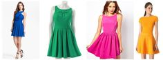 The StyleUp: Trending Wednesdays: Bright Fit-And-Flare Dresses Blog | StyleUp