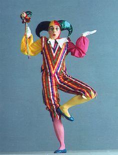 Charlie Chaplin as a court jester.