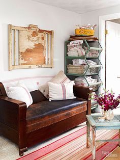 Wall art doesn't have to be expensive. Find affordable pieces (for a fraction of the price) at a flea market near you. Learn how to update your vintage treasures with these easy DIY ideas.