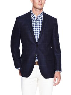 Large Check Blazer by Joseph Abboud at Gilt USD 299