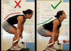 Correct way to dead lift #deadlift #womenwholift #properform