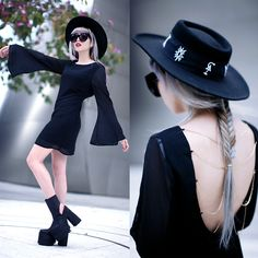 Klasik Lila Dress, Unif Boyle Platform, Unif Relics Hat