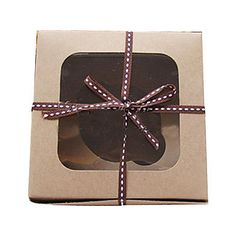 Simple Kraft Paper Cake Favor Boxes by JoyfulWayCakes on Etsy