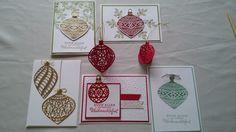 Ulli's Stempeloase, Stampin Up, Weihnachen, Zauberhafte Zierde, Thinlits am Christbaum