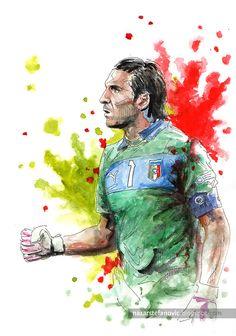 """Nazar Stefanovic Art — """"GG Buffon"""" Germany - Italy Semi-final EURO..."""