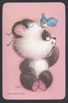 920 491 Blank Back Swap Card Mint Panda with Bluebird | eBay
