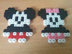 Mickey and Minnie (hama/perler beads)