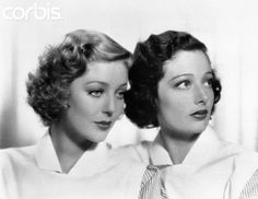 Movie Actress Loretta Young with Sister Polly Ann Young 1936