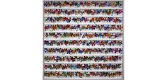Joanne Tinker, 'Daisy Chain', 100 x sweet wrappers. Sweet Wrappers, Daisy Chain, Photo Wall, Gallery, Frame, Home Decor, Objects, Other, Photograph