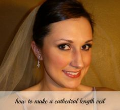The best tutorial on how to make your own tulle wedding veil. This tutorial also includes directions for different veil lengths!