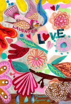 Love by Mercedes Lagunas #floral print #flowers #love