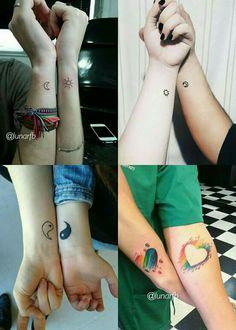Matching Best Friend Tattoos, Tatting, Tattoo Ideas, Wallpaper, Random, Phone, Cool Tattoos, Group, Presents