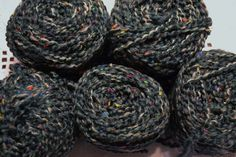 Columbia Minerva Dots et Laine Jungle Yarn 8 ounces Gray Green with Flecks Destash Crochet Knitting Crafts Supplies DIY PanchosPorch So Creative, Green And Grey, Columbia, Craft Supplies, Dots, Knitting, Crochet, Crafts, Stitches