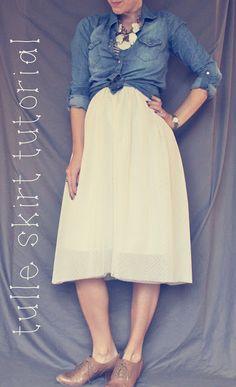 oh, sweet joy!: ((handmade monday)) tulle skirt tutorial