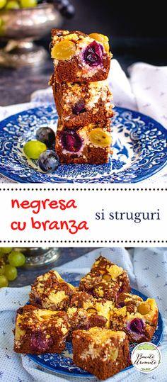 Rețeta de negresă cu brânză și struguri. Cum se face o negresă cu cremă de brânză, pufoasă și delicioasă. Prăjitura negresă de casă. #bucatearomate #negresa #negresacubranza #prajituracubranza #desert #prajituracustruguri