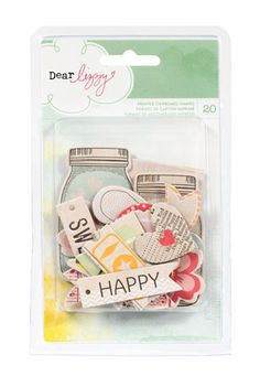 American Crafts - Dear Lizzy Neapolitan Collection - Printed Chipboard Pieces - Shapes at Scrapbook.com $3.99