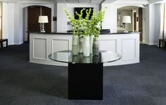 Commercial project, office lobby