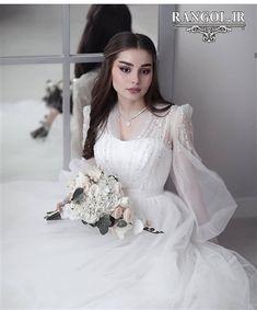 Wedding Dress Bustle, Muslimah Wedding Dress, Fancy Wedding Dresses, Wedding Dress Sleeves, Bridal Dresses, Wedding Gowns, Wedding Groom, Ball Dresses, Dress Wedding