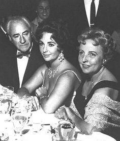 Elizabeth Taylor - with her parents