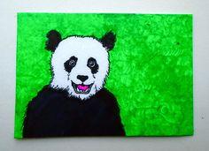 Hello Panda Bear 221 ARTIST TRADING CARDS 2.5 x