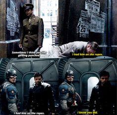 Bucky Barnes Captain America Sebastian Stan Steve Rogers