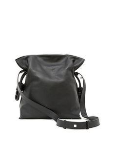 LOEWE Flamenco Knot Bucket Bag, Black. #loewe #bags #hand bags #bucket #lining