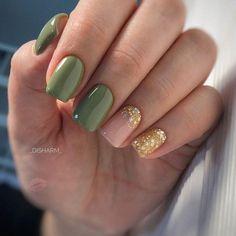 Make an original manicure for Valentine's Day - My Nails Green Nails, Pink Nails, Shellac Nails, Nail Polish, Acrylic Nails, Olive Nails, French Nail Designs, Hair Skin Nails, Hot Nails