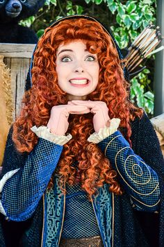 Merida by EverythingDisney, via Flickr... @Morgan Buchanan - she kind of looks like you.