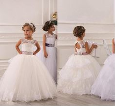2015 Spring Flower Girl Dresses Vintage Jewel Sash Lace Net Baby Girl Birthday Party Christmas Princess Dresses Party Dresses A281 Flowers Girl Dress Girl Dresses For Weddings From Dress_beautiful, $61.42| Dhgate.Com