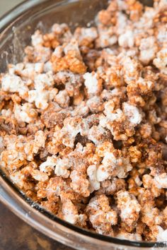 The best version of Chex Churro Mix  || popcorn recipe of the year, churro popcorn ohsweetbasil.com