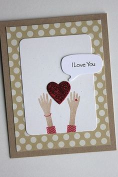 I Love You Card by Heather Nichols for Papertrey Ink (December 2014)